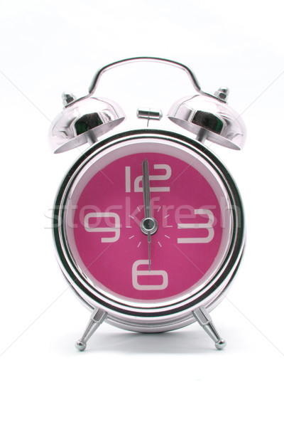 pink alarm clock front perspective Stock photo © vichie81