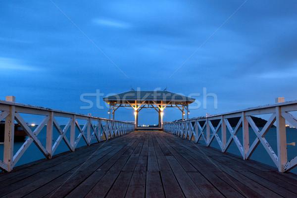 jetty walkway with pavillion Stock photo © vichie81