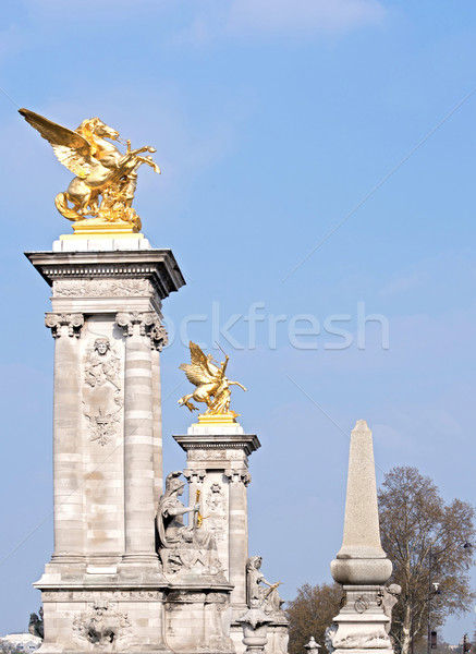 Paris Statue bridge alexander  Stock photo © vichie81