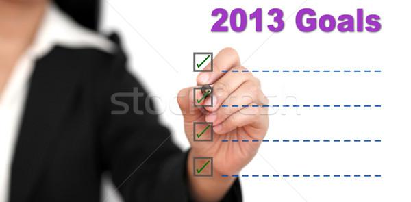 2013 Goal List Stock photo © vichie81