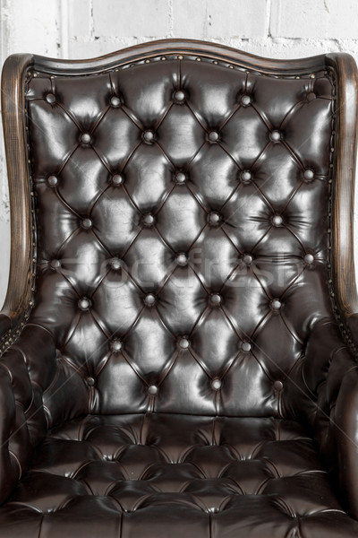 Black leather chair Stock photo © vichie81