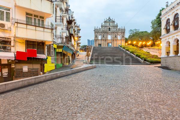 Ruines een best historisch centrum unesco Stockfoto © vichie81