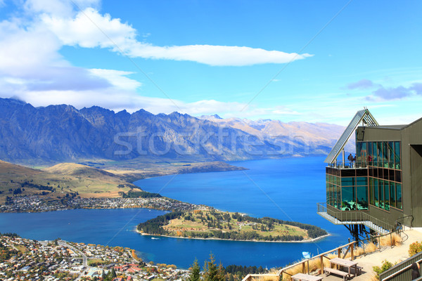 Stock photo: Queenstown downtown with the remarkable range