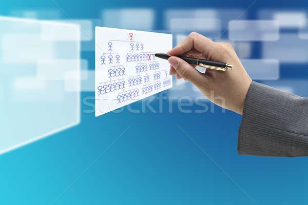 Desemprego gerente mão empregado virtual Foto stock © vichie81