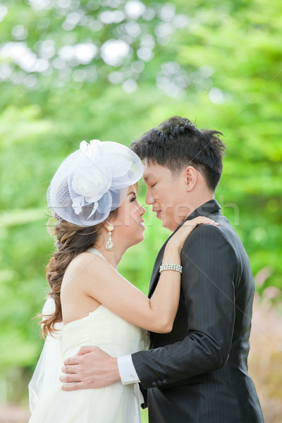 Newlyweds Couples kissing Stock photo © vichie81