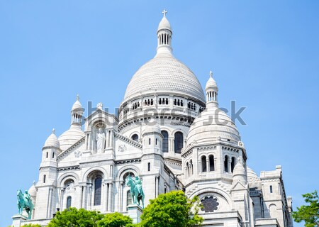 Sacre Coeur Cathedral Montmartre , Paris Stock photo © vichie81
