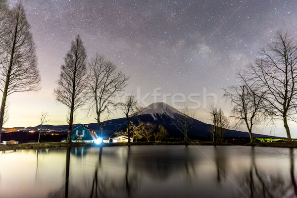 Mount Fuji Fujisan star Stock photo © vichie81