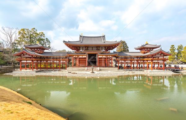 Tapınak kyoto kasaba Japonya seyahat göl Stok fotoğraf © vichie81