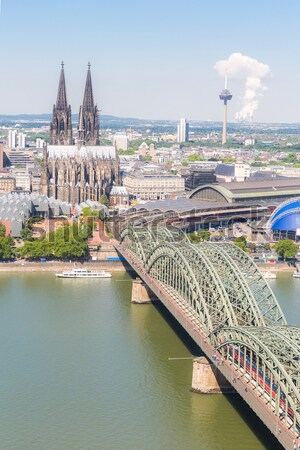 Cologne Cathedral aerial Stock photo © vichie81