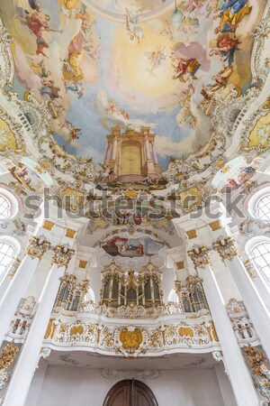 Interieur bedevaart kerk Duitsland hemel reizen Stockfoto © vichie81