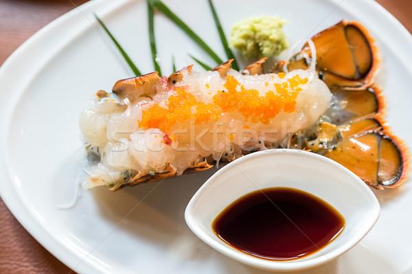 Aragosta sashimi japanese cucina alimentare mare Foto d'archivio © vichie81