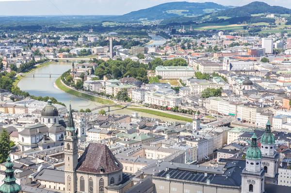 Histórico Austria hermosa vista ciudad cielo Foto stock © vichie81
