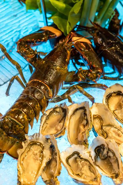 Langosta hielo frescos comer comida mariscos Foto stock © vichie81