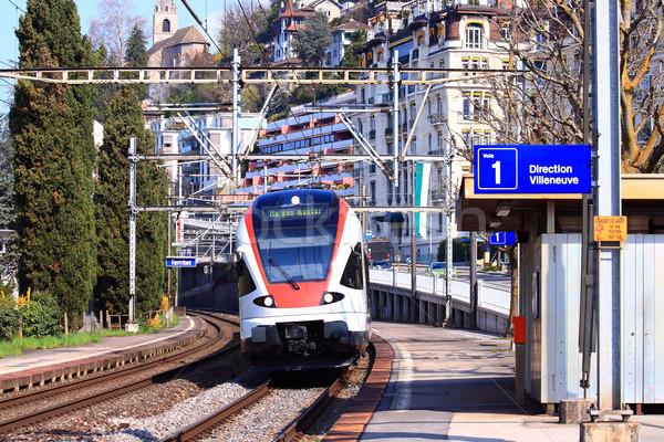 Modern Train in Switzerland Stock photo © vichie81