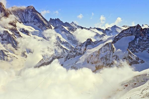 Buğu İsviçre alpler muhteşem buzul bir Stok fotoğraf © vichie81