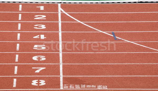 Başlatmak bitirmek nokta yarış pisti doku spor Stok fotoğraf © vichie81