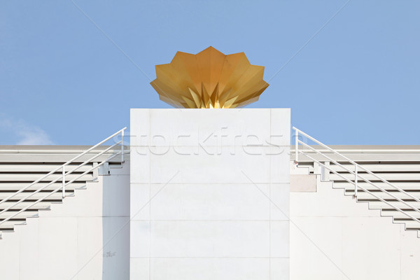 Stadion toorts groot gebouw sport hemel Stockfoto © vichie81
