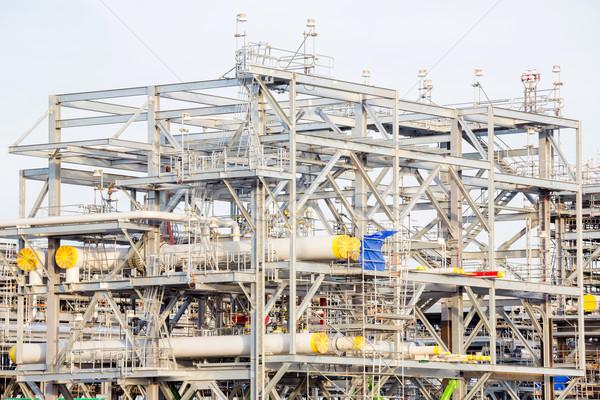 Stok fotoğraf: Rafineri · fabrika · doğal · gaz · depolama · tank · yağ