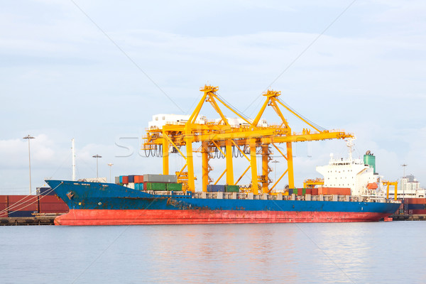 shipping and logistic background Stock photo © vichie81