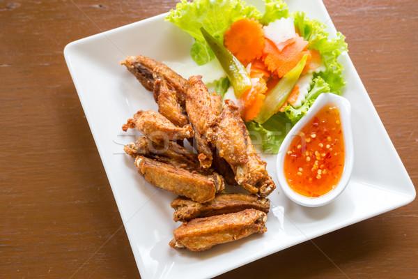 Mély sültcsirke étterem madár hús gyors Stock fotó © vichie81