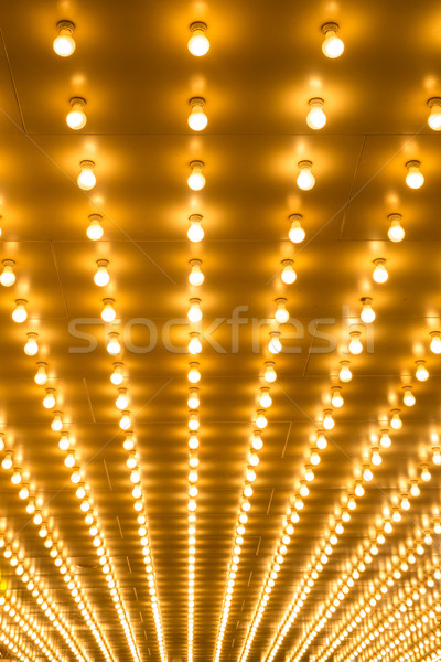 bulbs marquee lights background Stock photo © vichie81