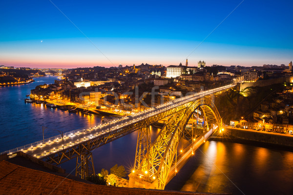 Dom Luiz bridge in Porto Portugal Stock photo © vichie81