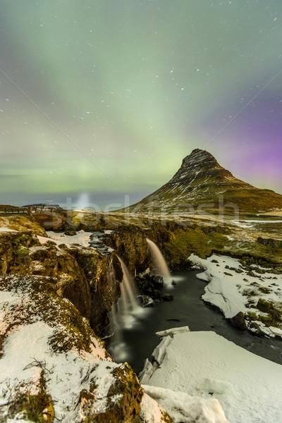 Northern Light Aurora borealis Stock photo © vichie81