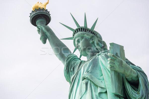 статуя свободы Нью-Йорк США зеленый синий Сток-фото © vichie81