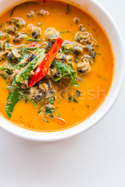 Rivier slak Rood kerrie witte thais eten Stockfoto © vichie81