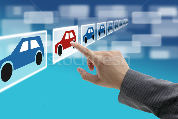 electronic commerce car showroom Stock photo © vichie81
