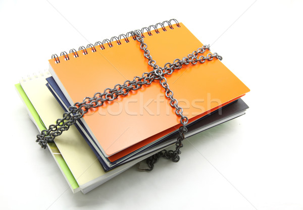 stack of books with chain Stock photo © vichie81