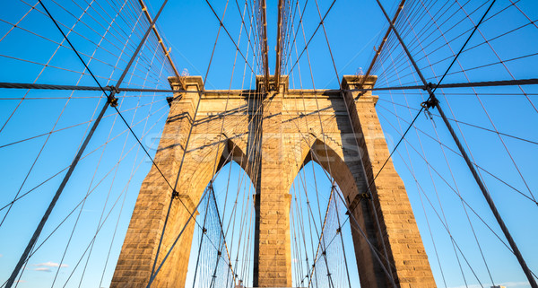 Stock photo: Brooklyn bridge