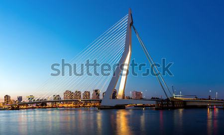 Stock photo: Erasmus bridge Rotterdam panorama