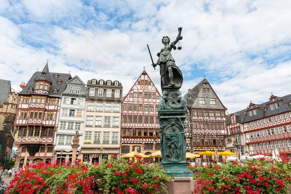 Town square romerberg Frankfurt Germany Stock photo © vichie81