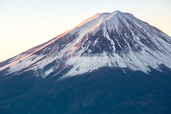 Dağ fuji gündoğumu Japonya kış su Stok fotoğraf © vichie81