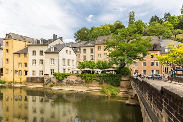 Luxemburg stad centrum schilderachtig rivier Stockfoto © vichie81