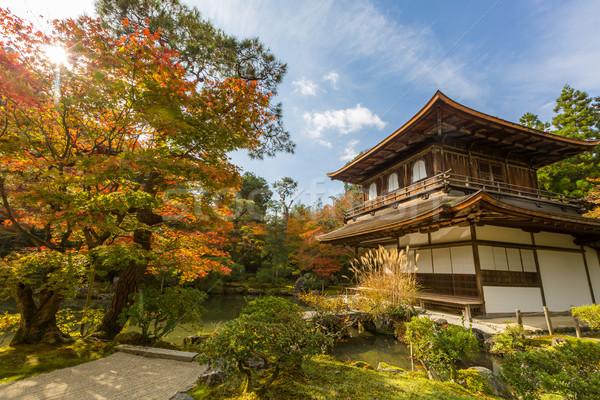 Kyoto świątyni srebrny Japonia wody budynku Zdjęcia stock © vichie81
