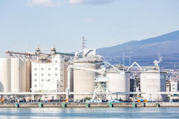 Dağ fuji fabrika Japonya sanayi gökyüzü Stok fotoğraf © vichie81