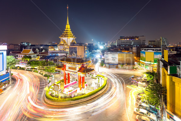 Bangkok geçit kemer daire altın Buda Stok fotoğraf © vichie81