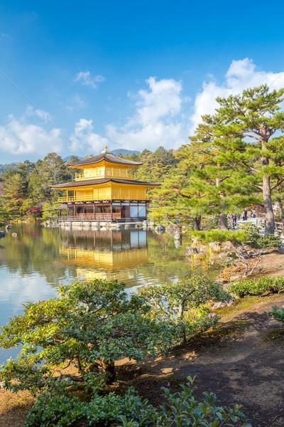 Tapınak kyoto Japonya altın ağaç bahçe Stok fotoğraf © vichie81