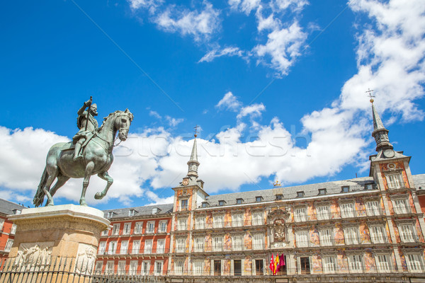 Foto stock: Madri · céu · cidade · viajar · europa · férias