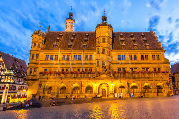 Rothenburg City hall Stock photo © vichie81