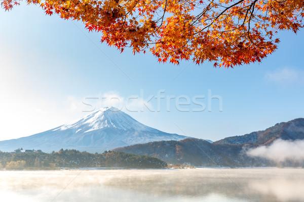 Fuji outono Japão lago neve rio Foto stock © vichie81