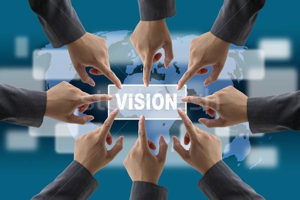 Diverso negócio mundo visão trabalho em equipe tecnologia Foto stock © vichie81