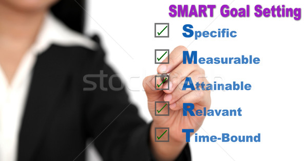 Stock photo: business SMART Goal setting