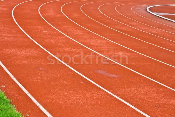 Rennstrecke Kurve Stadion Textur Sport laufen Stock foto © vichie81