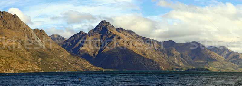 パノラマ 湖 ニュージーランド 風光明媚な 山 風景 ストックフォト © vichie81