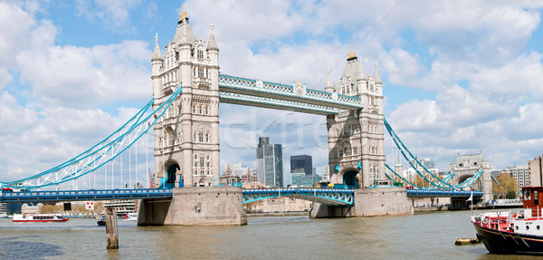 Tower Bridge panorama Londres rio Foto stock © vichie81