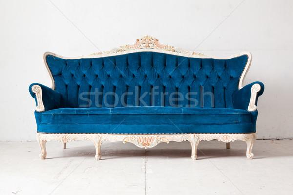 Blue Sofa bed Stock photo © vichie81