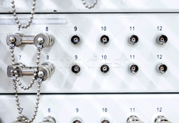 Telekomünikasyon sunucu rafı bilgisayar Internet teknoloji ağ Stok fotoğraf © vichie81